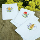 Flowers & Lavender Cross Stitch Card Kits Set of 3 additional 2