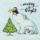 Merry & Bright Bear Cross Stitch Kit additional 1