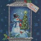 Snowman Lantern Cross Stitch Kit additional 1