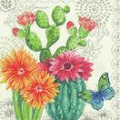 Cactus Blooms Cross Stitch Kit additional 1