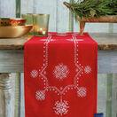 White Christmas Stars Embroidery Table Runner Kit additional 3