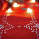 White Christmas Stars Embroidery Table Runner Kit additional 2