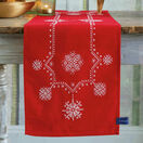 White Christmas Stars Embroidery Table Runner Kit additional 1