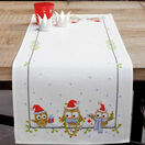 Christmas Owls Counted Cross Stitch Table Runner Kit additional 1