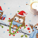 Christmas Owls Counted Cross Stitch Table Runner Kit additional 2