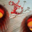 Christmas Elves Skiing Embroidery Table Runner Kit additional 2