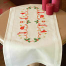 Christmas Stockings Embroidery Table Runner Kit additional 1