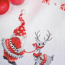 Santa & Rudolph Embroidery Table Runner Kit additional 2
