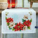 Christmas Flowers Cross Stitch Table Runner Kit additional 1