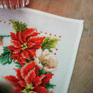 Christmas Flowers Cross Stitch Table Runner Kit additional 3