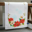 Christmas Flowers Cross Stitch Table Runner Kit additional 2