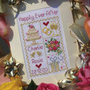 Happily Ever After Cross Stitch Wedding Card Kit additional 1