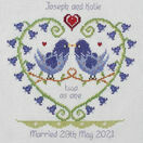 Bluebell Heart Wedding Sampler Cross Stitch Kit additional 1
