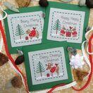 Woodland Friends Cross Stitch Christmas Card Kits (Set of 3) additional 1