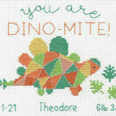 Dino-Mite Birth Record Cross Stitch Kit additional 1