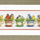 Teacup Birds Cross Stitch Kit additional 2