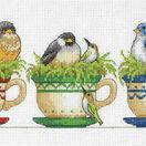 Teacup Birds Cross Stitch Kit additional 1