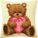 Cushion Panel Cross Stitch Kit - Popcorn with Heart additional 1
