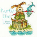 Number One Dad Cross Stitch Card Kit additional 2