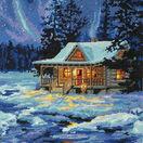 Winter Sky Cabin Tapestry Kit additional 1