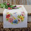 Colourful Flowers Counted Cross Stitch Table Runner Kit additional 1