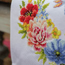 Colourful Flowers Counted Cross Stitch Table Runner Kit additional 2