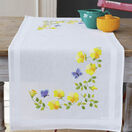 Spring Flowers With Butterflies Embroidery Table Runner Kit additional 1