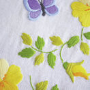 Spring Flowers With Butterflies Embroidery Table Runner Kit additional 2