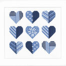 Blue Hearts Cross Stitch Kit additional 2
