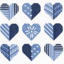 Blue Hearts Cross Stitch Kit additional 1
