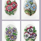 A Bunch Of Flower Cards Cross Stitch Kits (Set of 4) additional 1