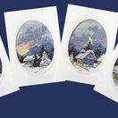 Moonlight Christmas Cards Cross Stitch Kits (Set of 4) additional 2