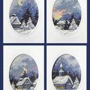 Moonlight Christmas Cards Cross Stitch Kits (Set of 4) additional 1