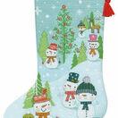 Snowman Family Cross Stitch Stocking Kit additional 1