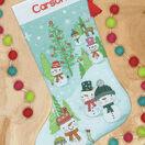 Snowman Family Cross Stitch Stocking Kit additional 2