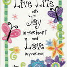 Live Life Embroidery Kit additional 1