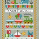 Animal Parade Birth Sampler Cross Stitch Kit additional 1