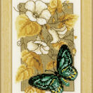 Butterfly On Flowers 2 Cross Stitch Kit With Frame additional 1