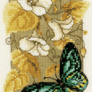 Butterfly On Flowers 2 Cross Stitch Kit With Frame additional 2