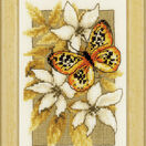 Butterfly On Flowers 3 Cross Stitch Kit With Frame additional 1