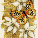 Butterfly On Flowers 3 Cross Stitch Kit With Frame additional 2