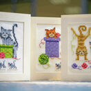 Playful Cats Set Of 3 Greetings Cards Cross Stitch Kit additional 2
