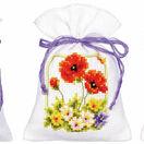 Summer Flowers Set Of 3 Pot-Pourri Bag Cross Stitch Kits additional 1
