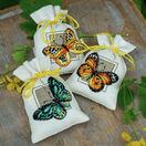 Butterflies Set Of 3 Pot-Pourri Bag Cross Stitch Kits additional 2