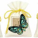 Butterflies Set Of 3 Pot-Pourri Bag Cross Stitch Kits additional 1