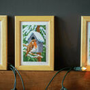 Robins In Winter Miniatures Set Of 3 Cross Stitch Kits - Includes frames additional 2