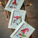 Christmas Gnomes 3 - Set of 3 Cross Stitch Card Kits additional 2
