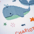 Whales Fun Cross Stitch Birth Record Kit additional 2