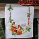 Robins On Flower Pots Table Runner Cross Stitch Kit additional 1