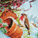 Robins On Flower Pots Table Runner Cross Stitch Kit additional 2